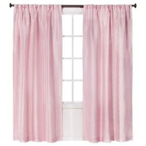 Simply Shabby Chic Pink Pleat Curtain Panel Faux S